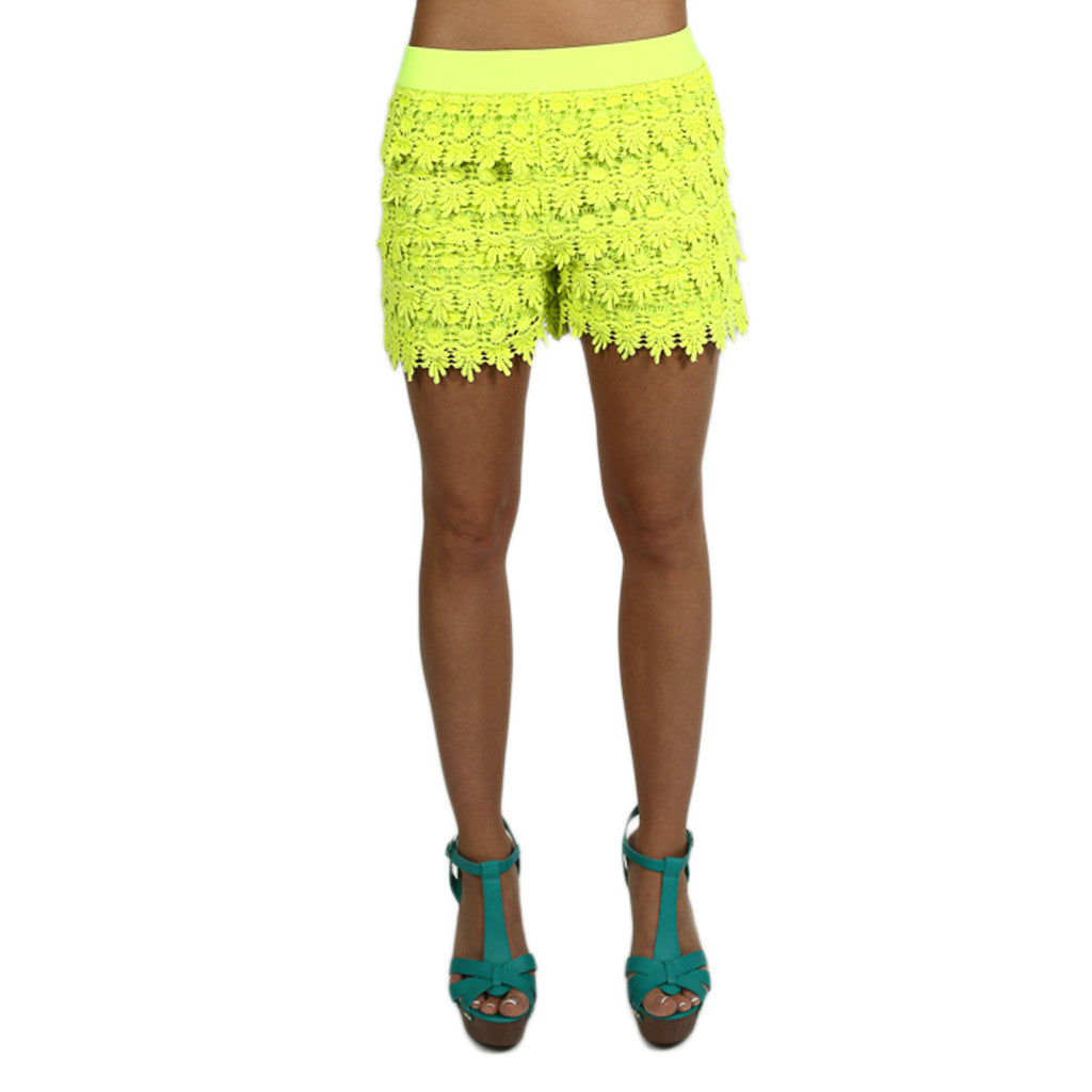 Downtown Shopping Shorts in Neon Lime