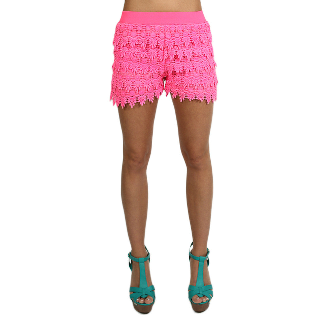 Downtown Shopping Shorts in Hot Pink