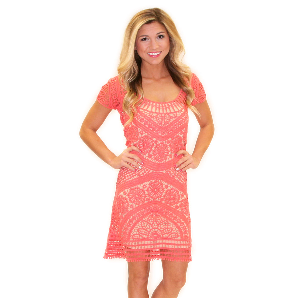 Dream Girl Lace in Coral