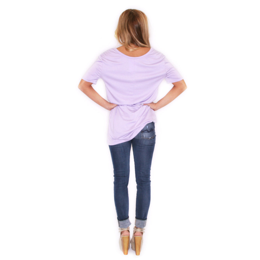 Girl Of Your Dreams Tee in Lilac