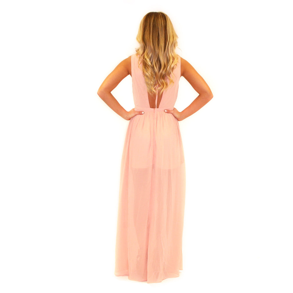 Dream Worthy Maxi in Peach