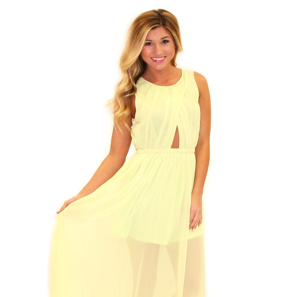 Dream Worthy Maxi in Lime
