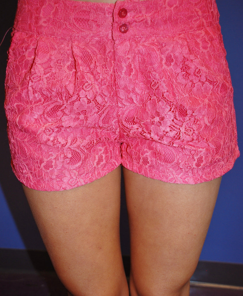 Walking on Sunshine Coral Shorts
