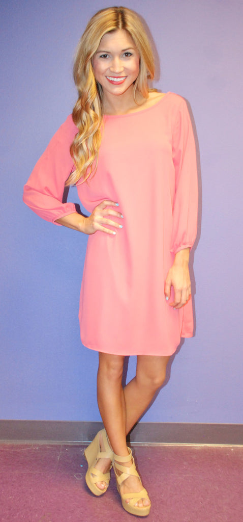 Bows and Kisses Coral Dress
