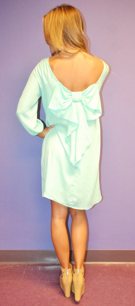 Bows and Kisses Mint Dress