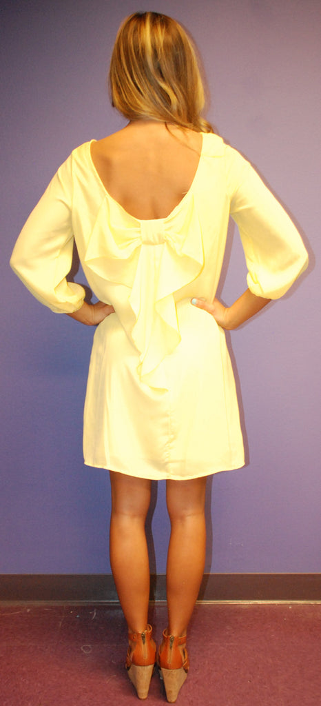 Bows and Kisses Yellow Dress