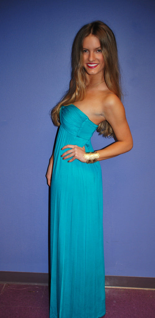 Dinner & Drinks Maxi Turquoise