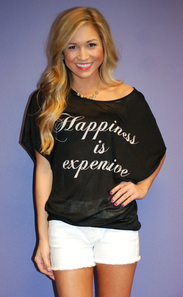 Happiness Is Expensive Black