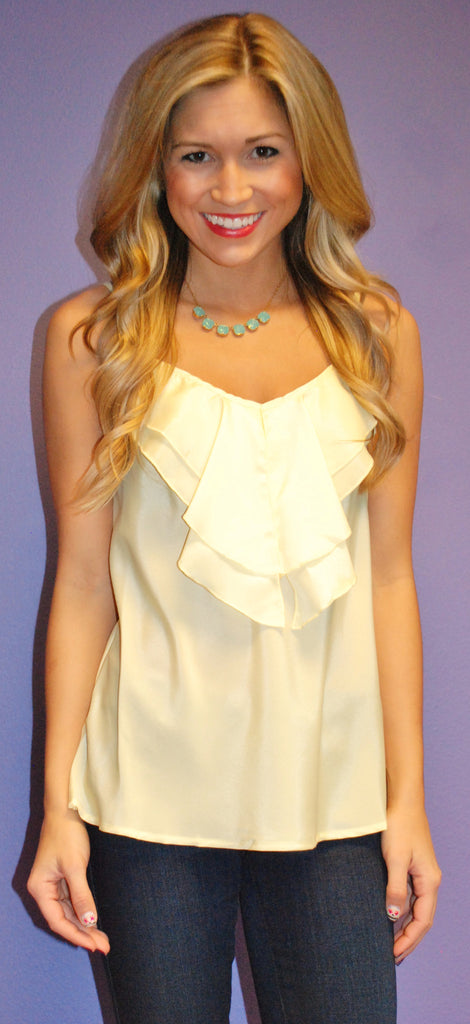 Beach Glam Tank Yellow