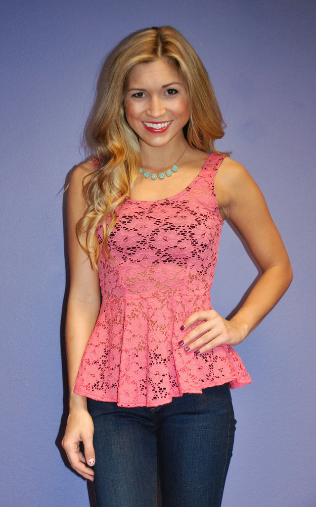 Pretty in Peplum Coral