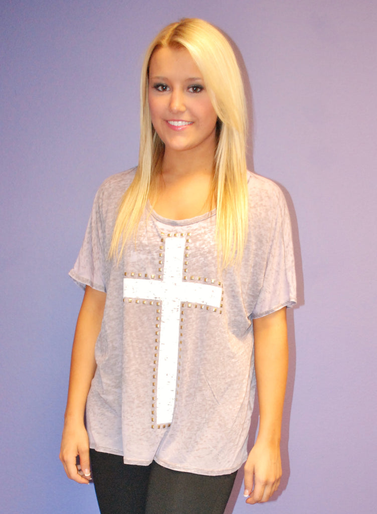 Southern Cross Tee in Purple