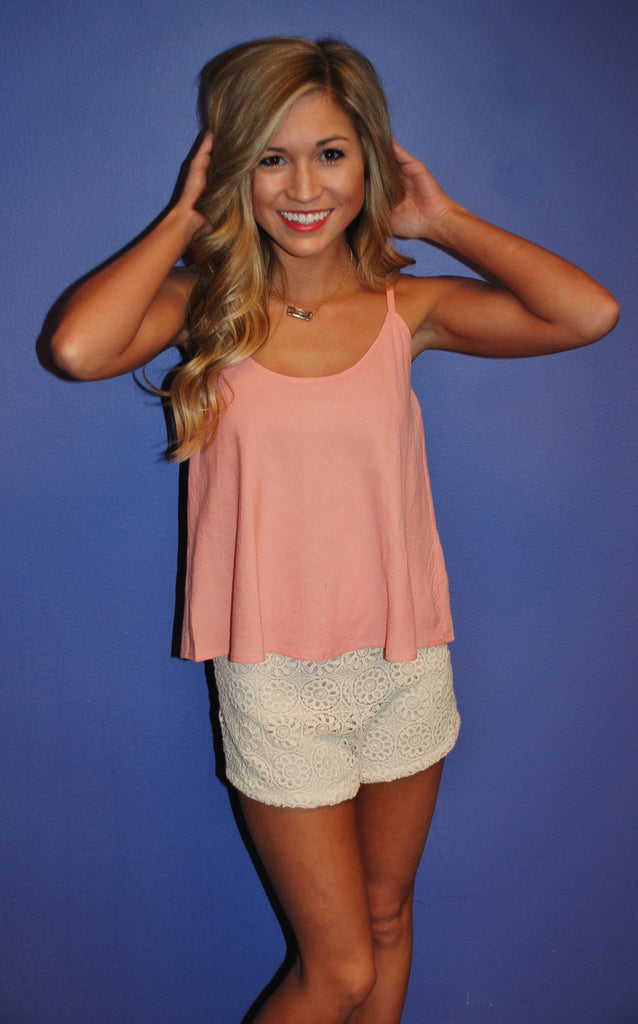 Beachy Keen Romper Peach