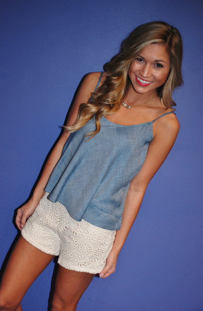 Beachy Keen Romper Blue