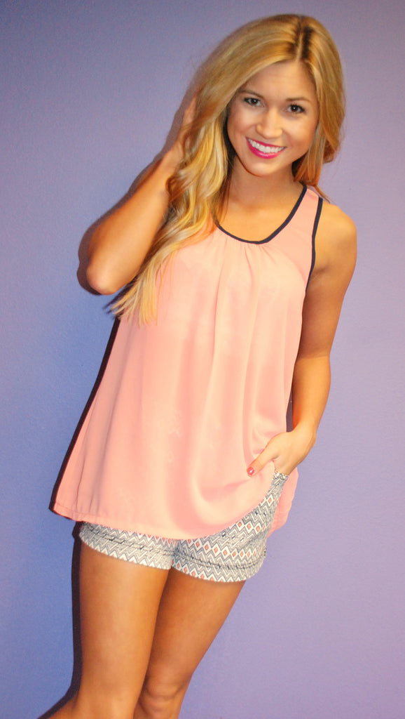 Sunkissed Glam Tank in Coral