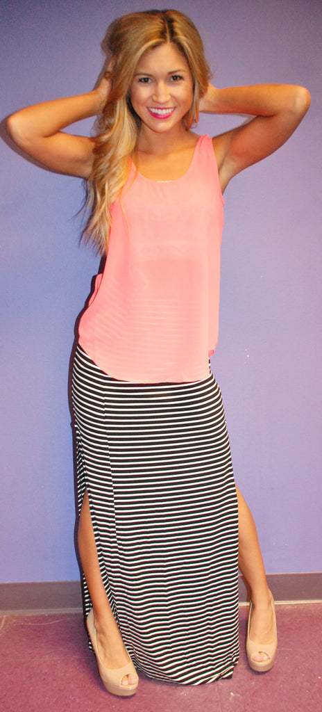 Summer Love Tank in Neon Pink
