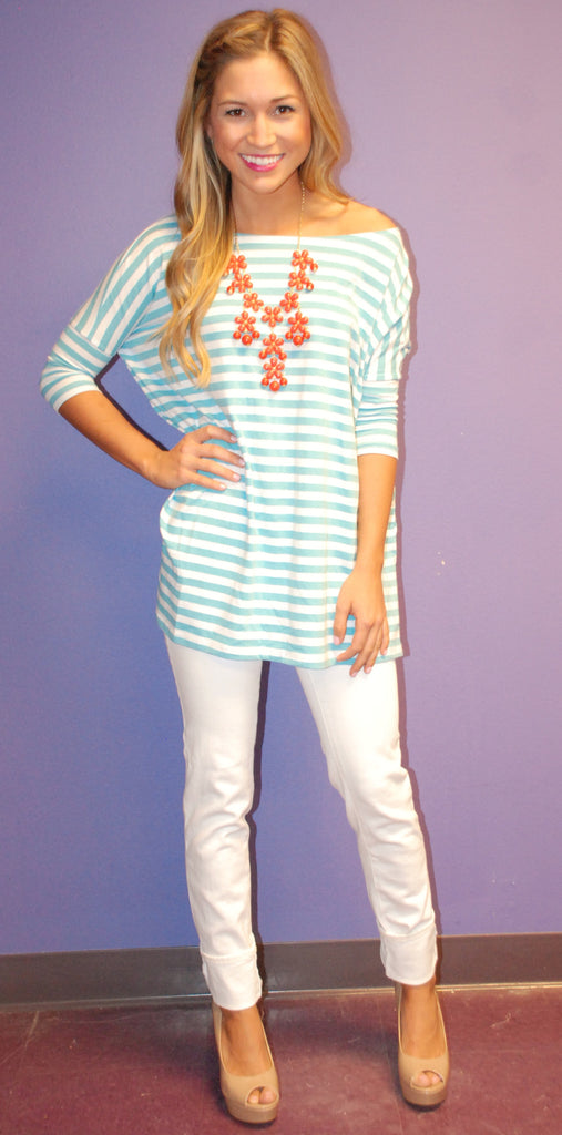 Short Sleeve Ocean Stripe PIKO