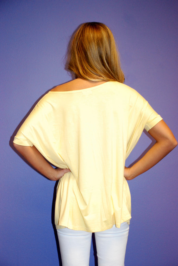 Piko Short Sleeve in Yellow