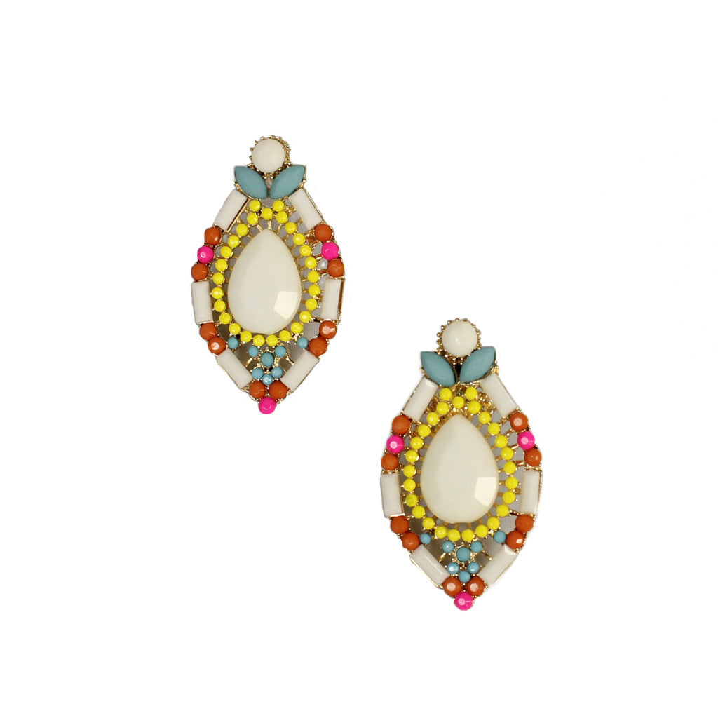Sparkling Poolside Earrings in White