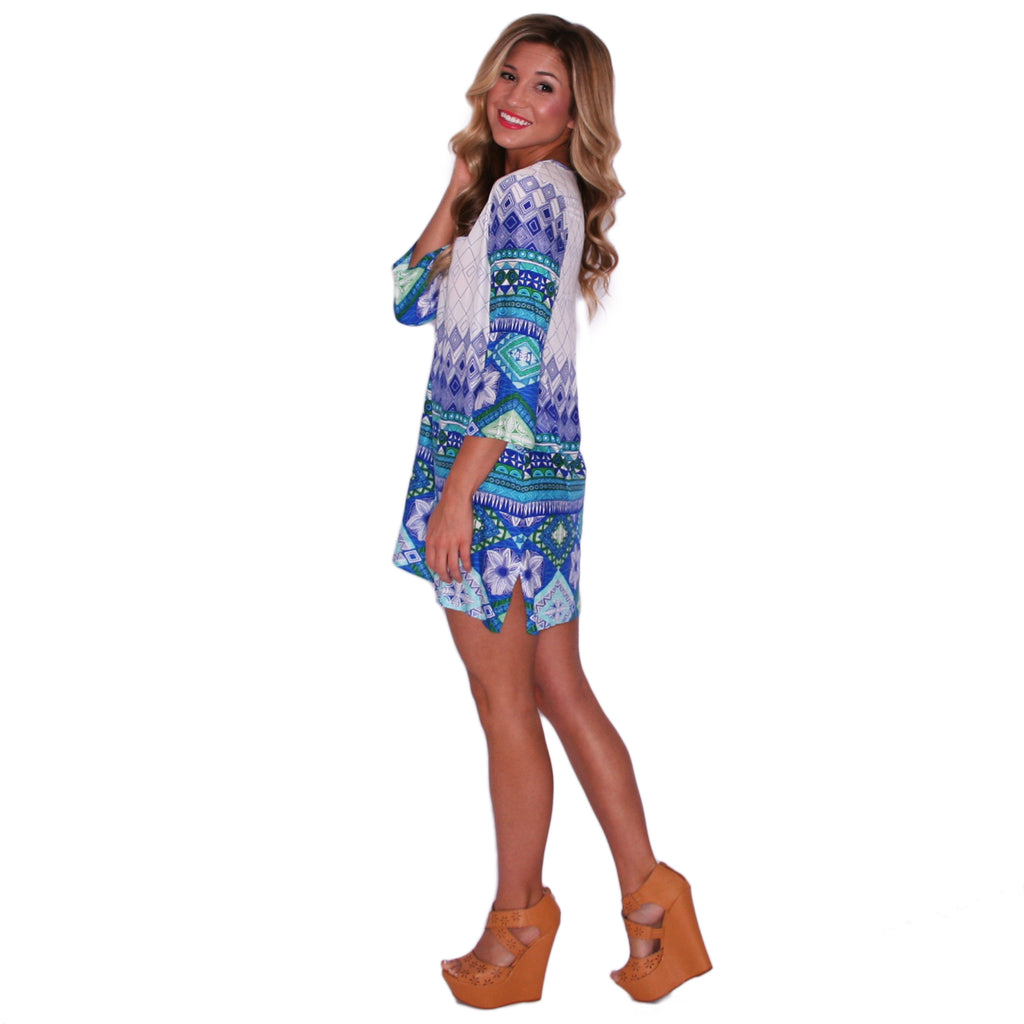 Everyday I Love You Tunic in Blue