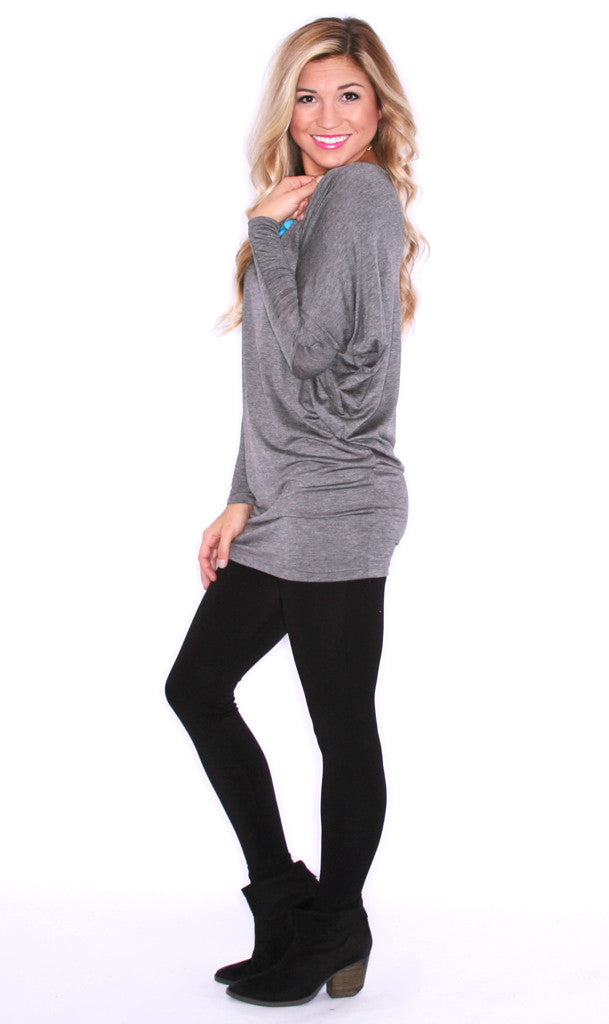 Everyday Chic Tunic Charcoal