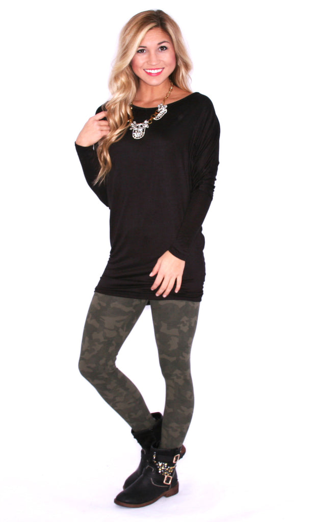 Everyday Chic Tunic Black