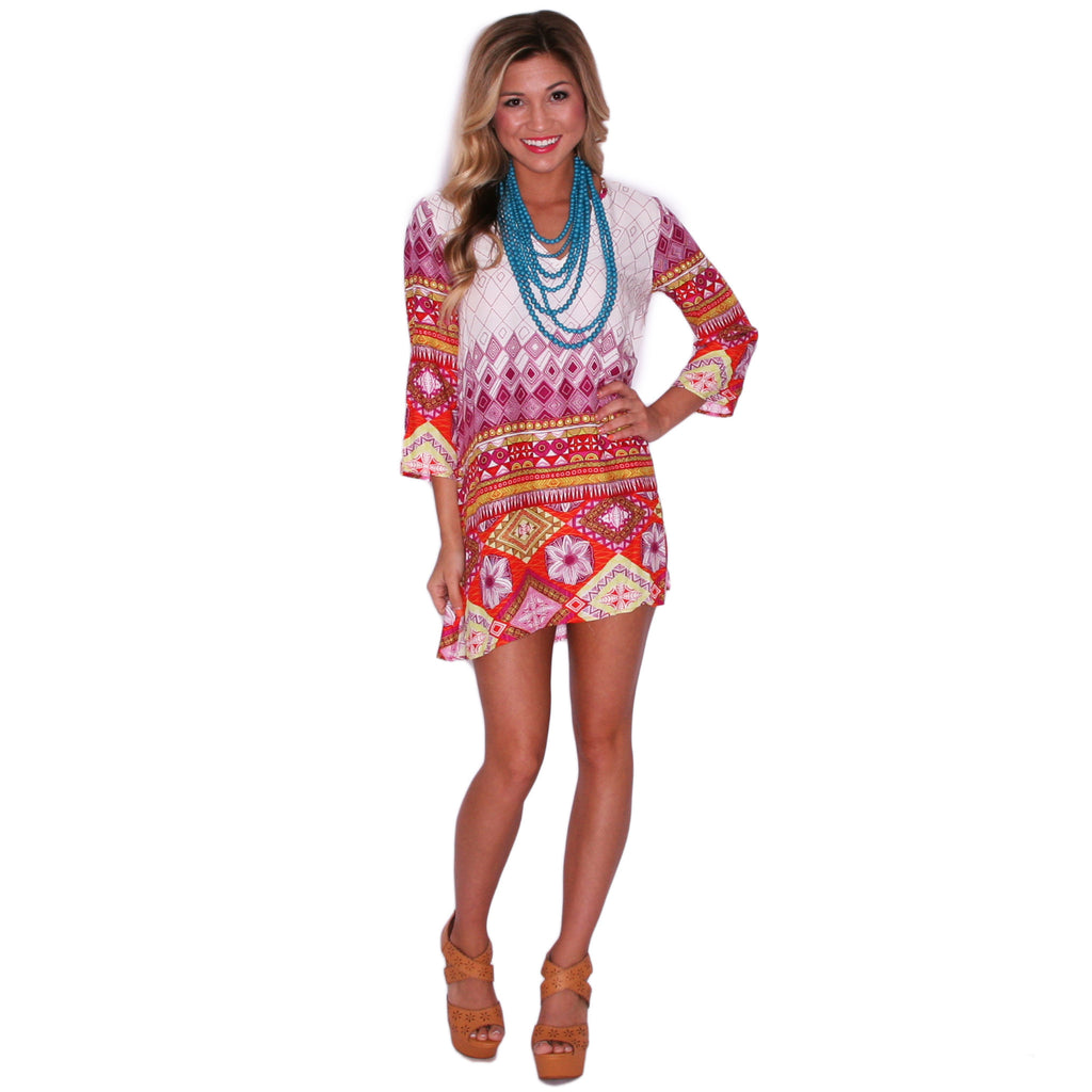 Everyday I Love You Tunic in Magenta