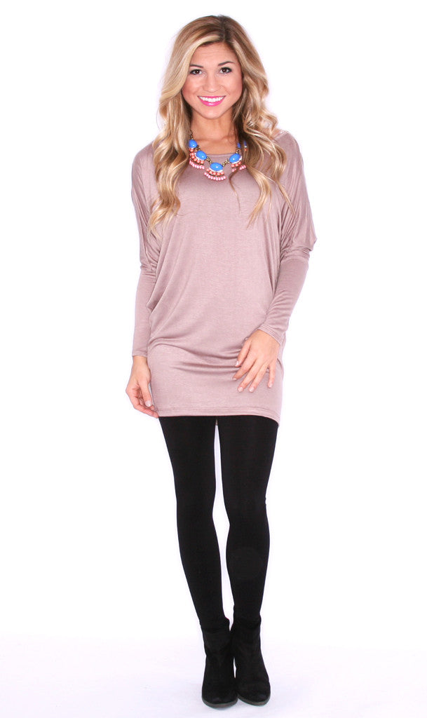 Everyday Chic Tunic Taupe