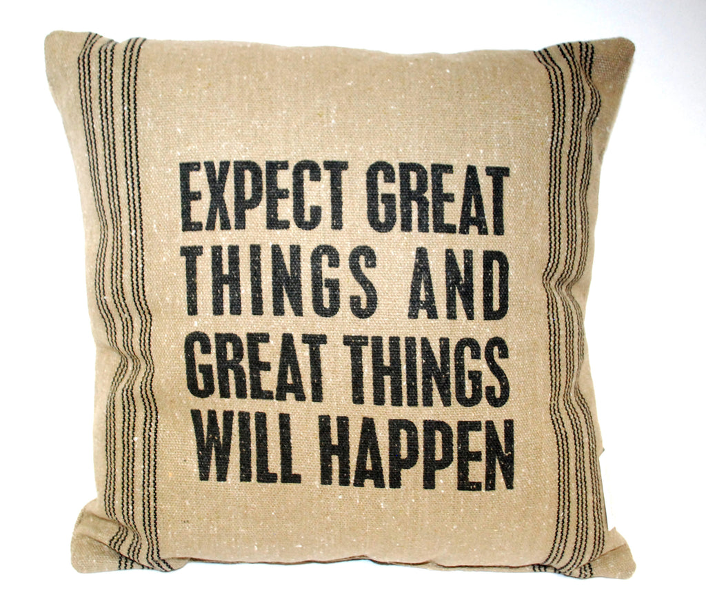 Expect Great Things Pillow