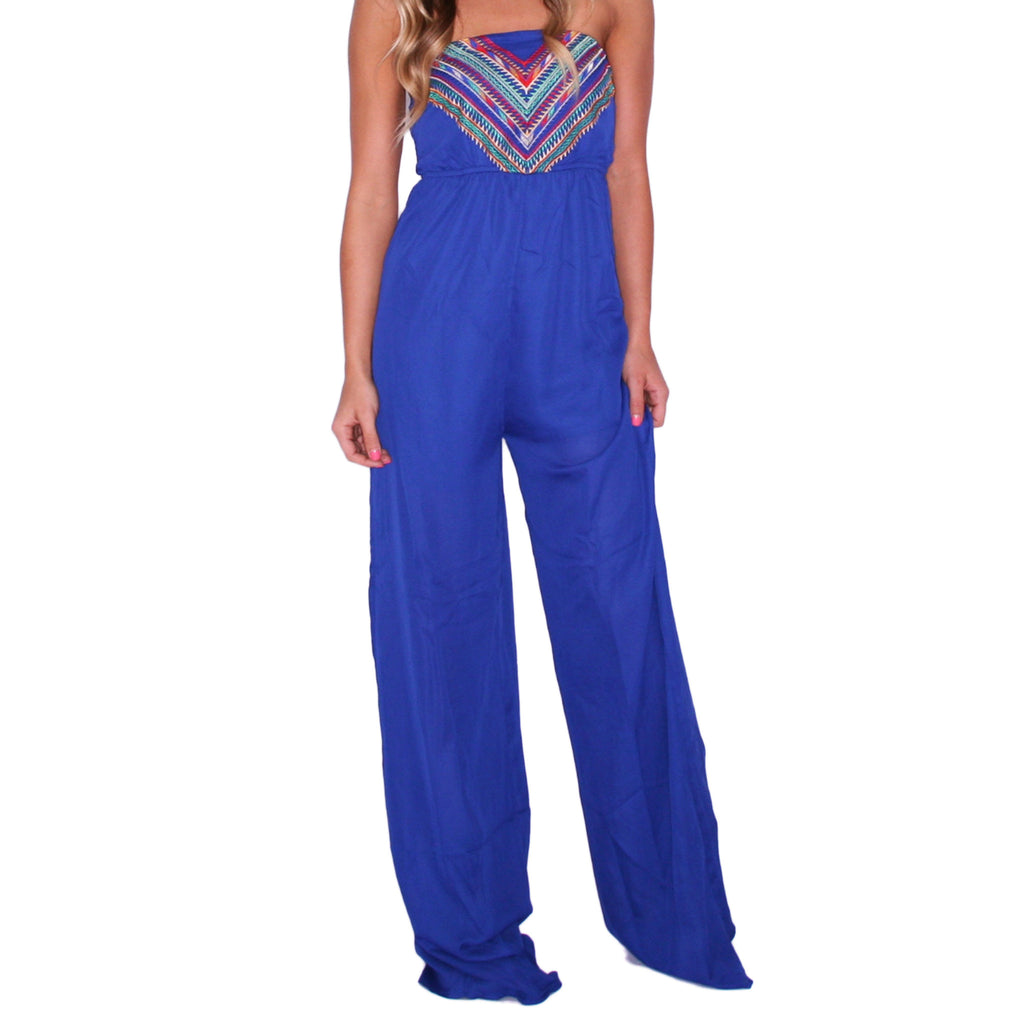 Express Yourself Jumpsuit in Royal Blue