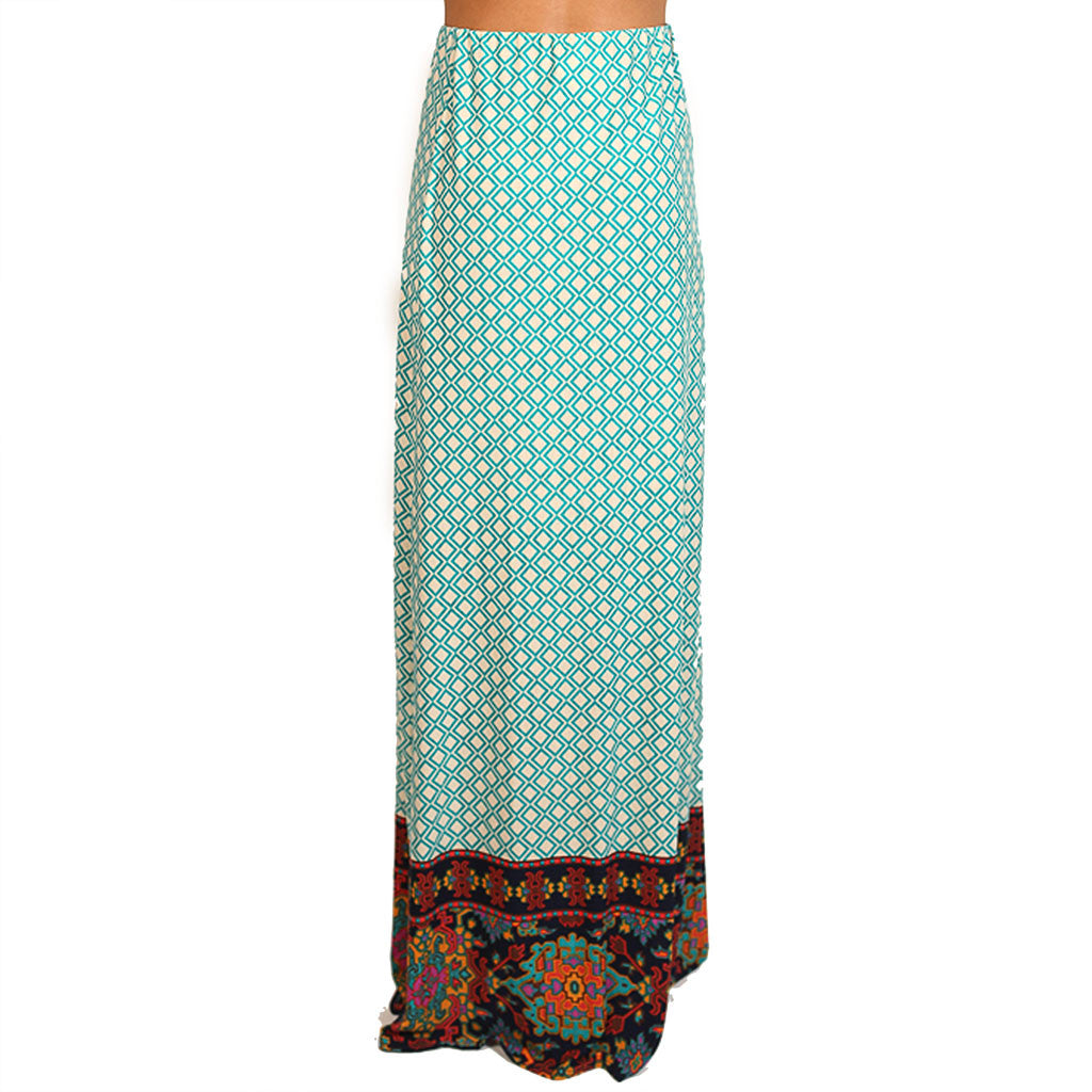 Forever Fabulous Maxi Skirt in Green
