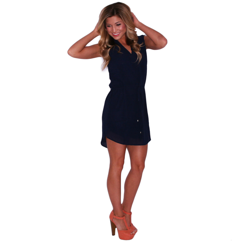 Falling For Fate Tunic in Navy