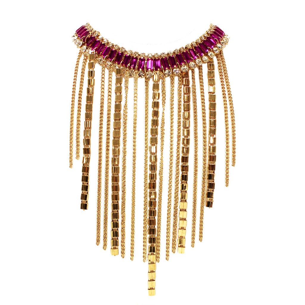 Fashion Fever Necklace in Fuchsia