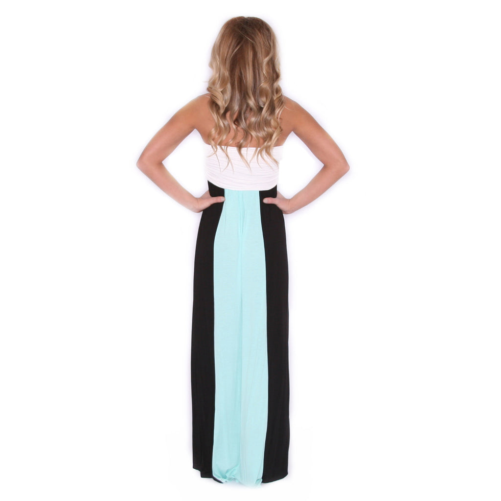 Feeling Inspired Maxi in Black/Mint