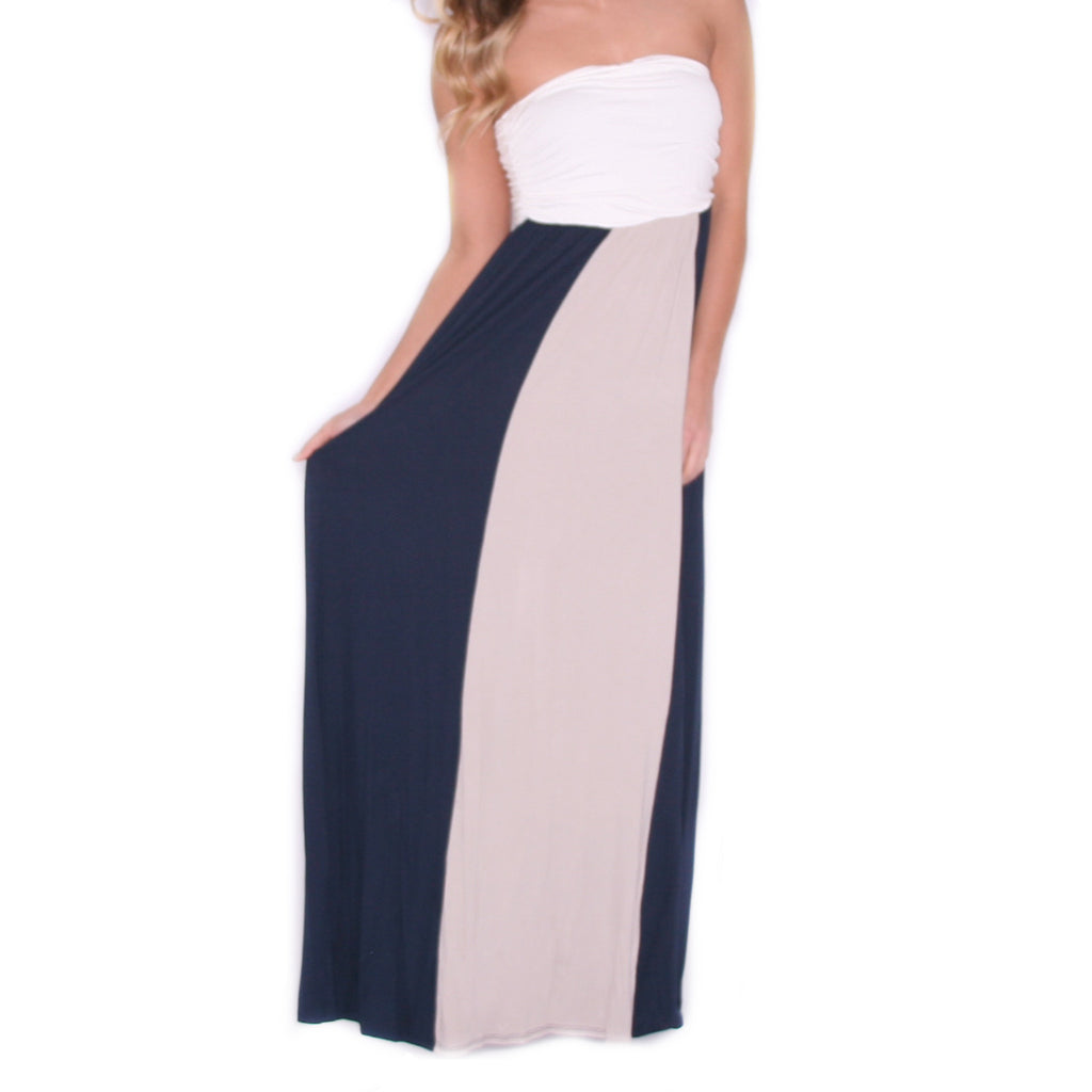Feeling Inspired Maxi in Navy/Taupe