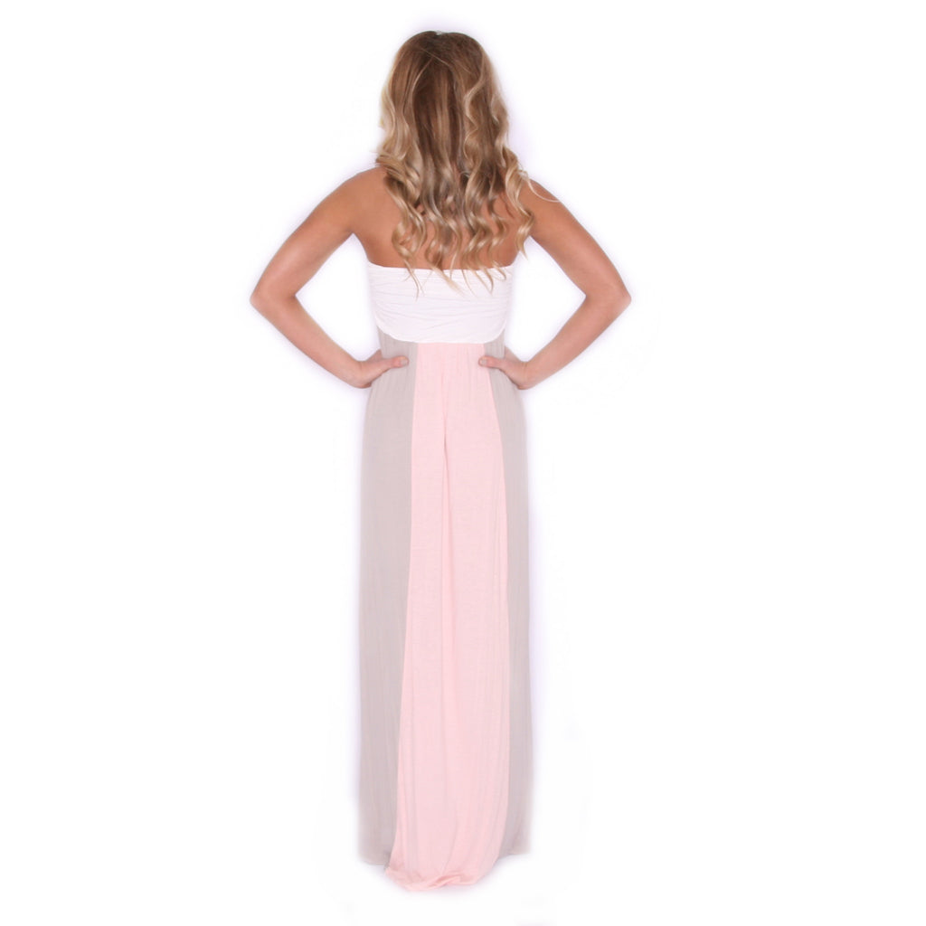 Feeling Inspired Maxi in Taupe/Peach