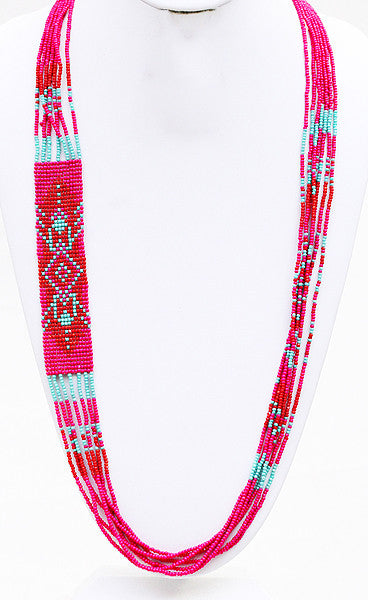 Festival Lights Necklace in Fuchsia