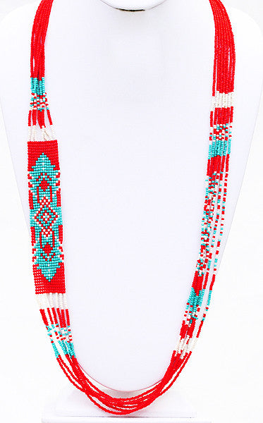 Festival Lights Necklace in Red