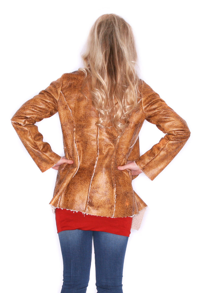Fireside Glam Jacket Camel