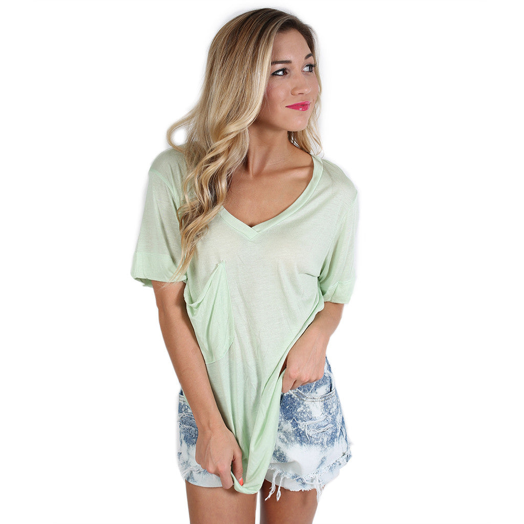Fit Me Perfect V-Tee in Mint