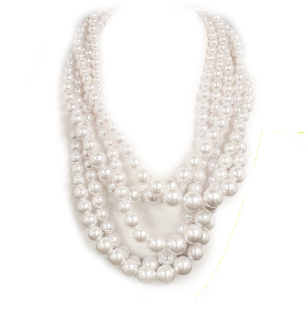 5 Strands of Pearls Necklace