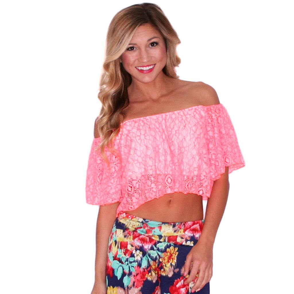 Flirty In Floral Coral