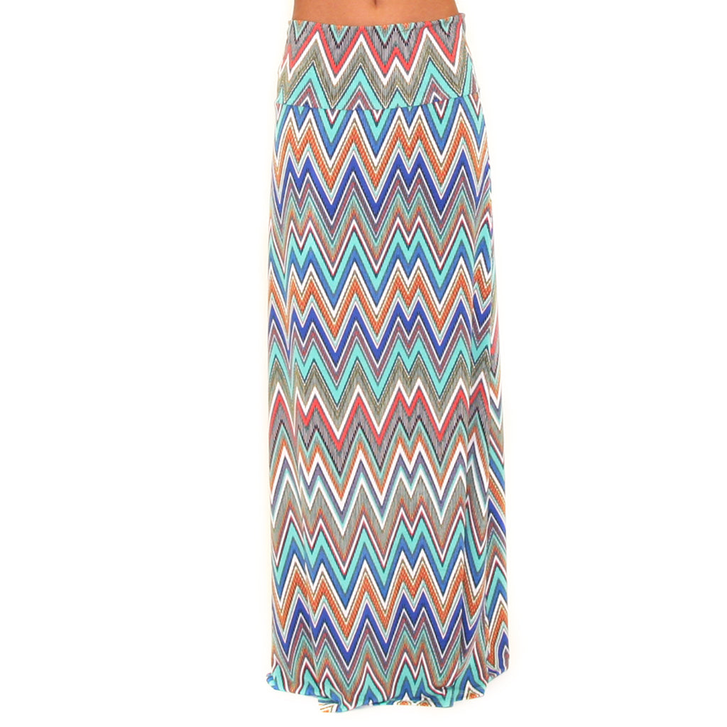 Forever Young Maxi Skirt in Blue