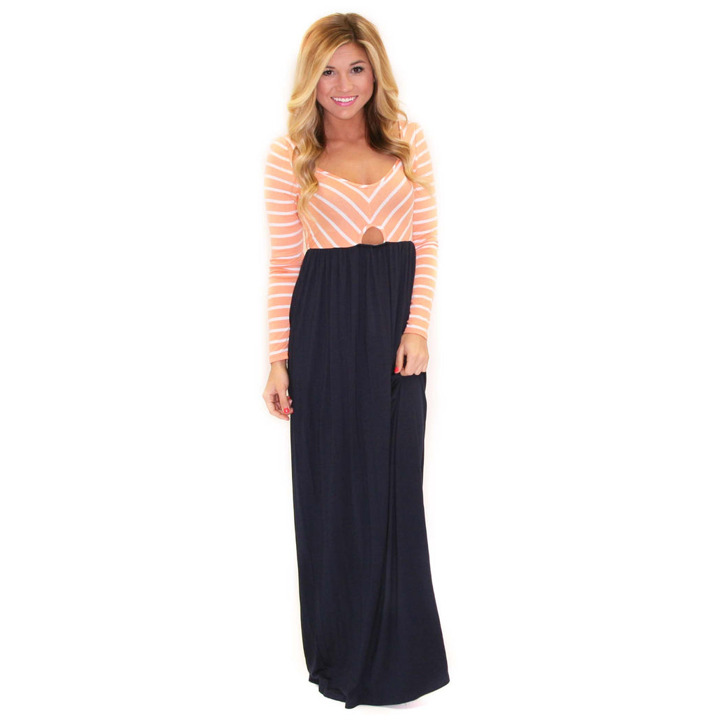 French Cinema Maxi Navy/Coral