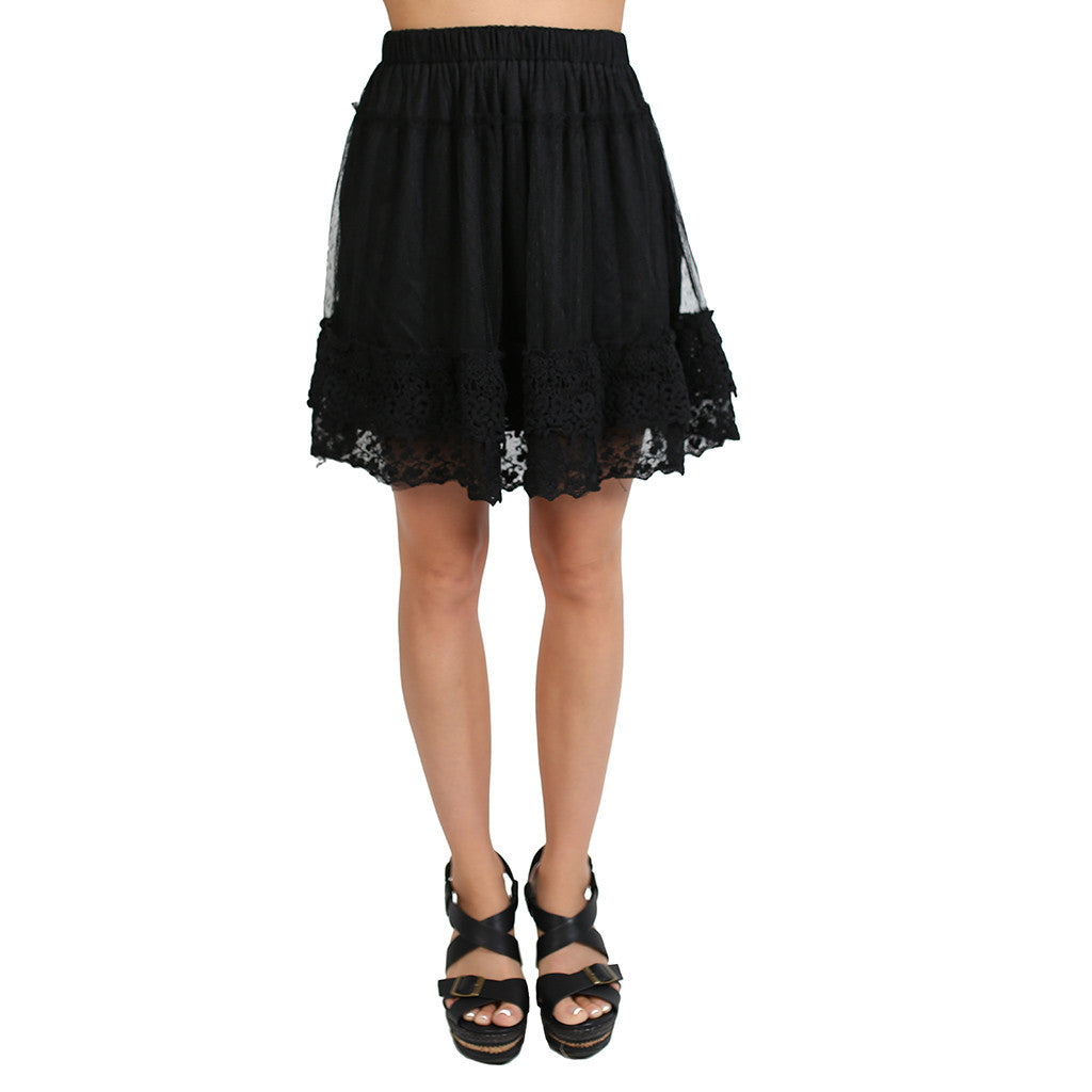Frilly Engagement Skirt in Black
