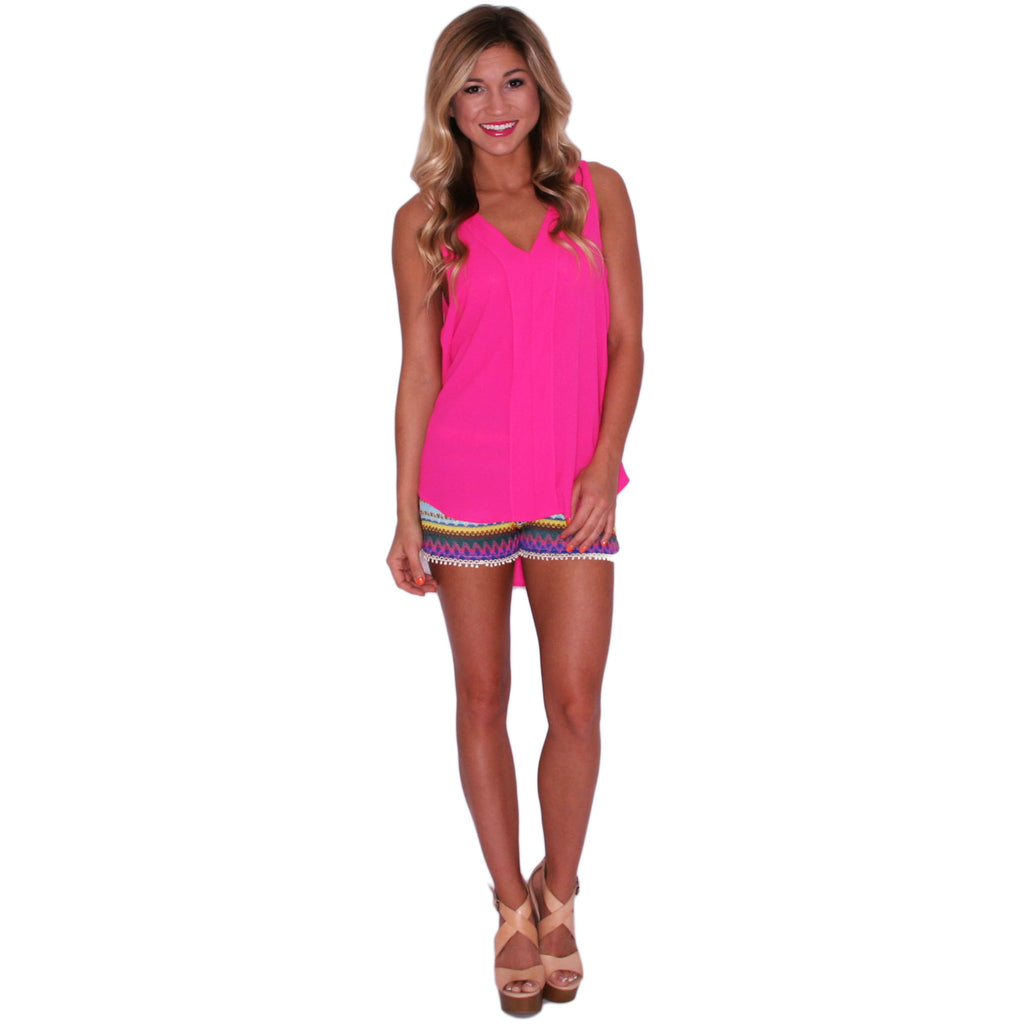 From Sunrise To Sunset Tank in Pink