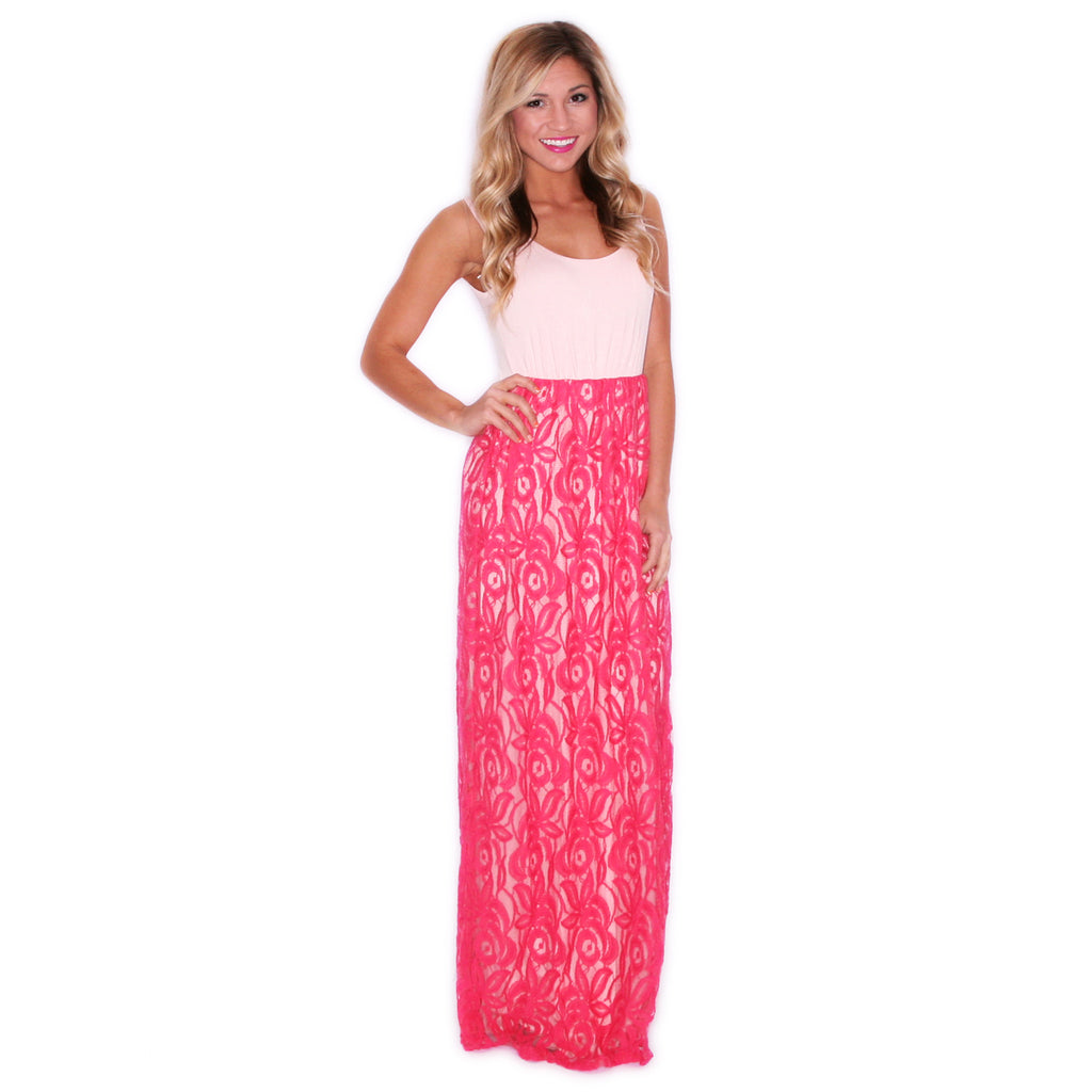 Full Of Grace Maxi in Coral