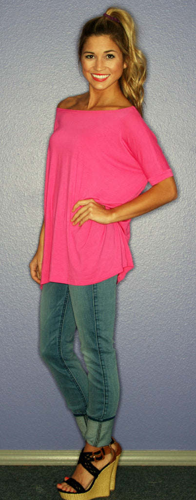 Short Sleeve Fuschia PIKO