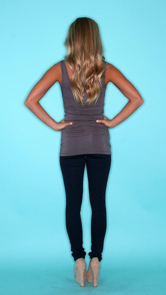 Impress Basic Tank in Charcoal