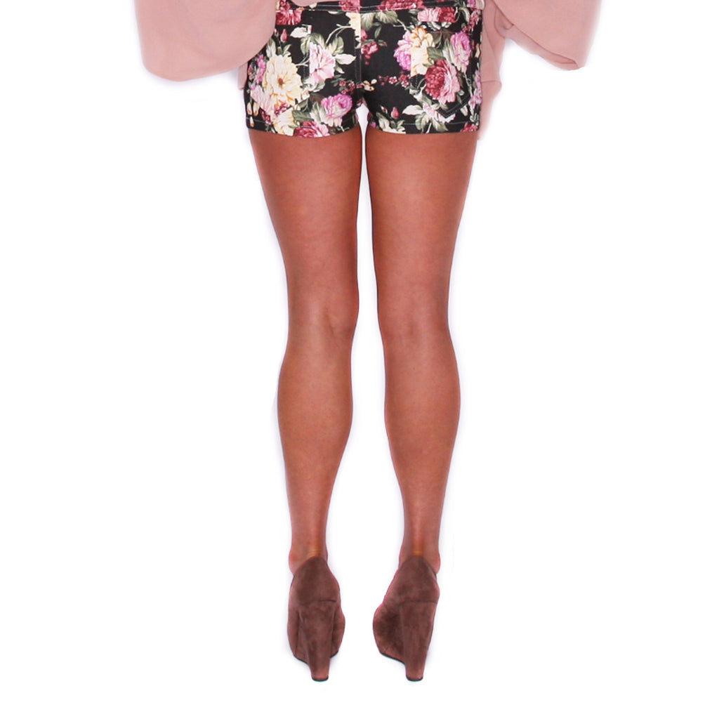 Game Changer Floral Short Black