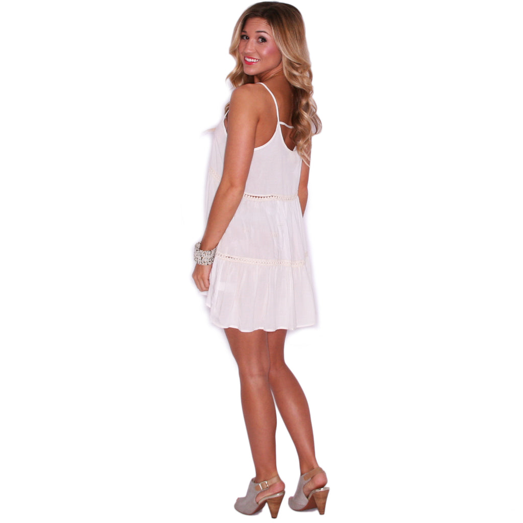 Garden Party Glam Dress in Ivory